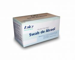 SWAB DE ÁLCOOL 70%  ISOPROPÍLCO BIO SOMA CX 100